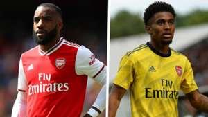 Alexandre Lacazette Reiss Nelson Arsenal 2019-20