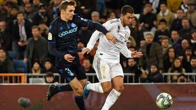 Eden Hazard Real Madrid Real Sociedad Diego Llorente