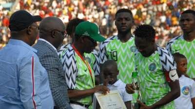 Ifeanyi Okowa, Ahmed Musa - Nigeria vs. Uganda