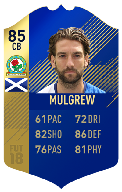 FIFA 18 EFL Team of the Season Mulgrew