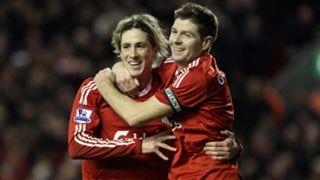 Fernando Torres Steven Gerrard Liverpool