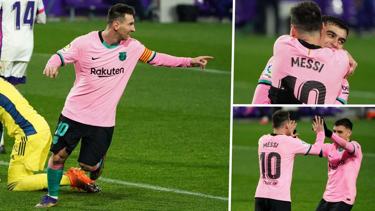 Lionel Messi Pedri Barcelona GFX