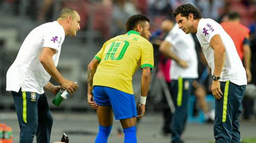 Neymar injured Brazil Nigeria