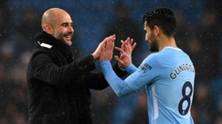 Pep Guardiola Ilkay Gundogan Manchester City 2017-18