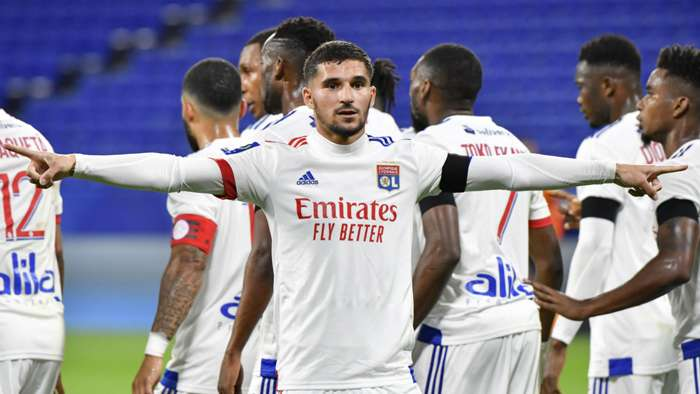 Houssem Aouar Lyon Monaco Ligue 1 25102020