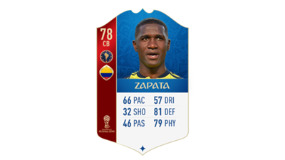 FIFA 18 World Cup CONMEBOL Ratings Zapata