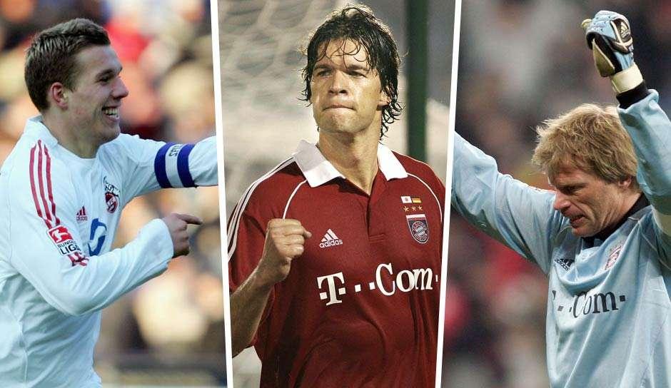ONLY GERMANY Lukas Podolski Michael Ballack Oliver Kahn