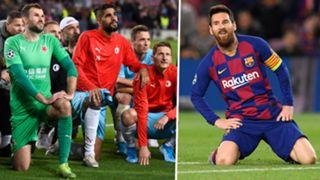 Slavia Prague Barcelona Lionel Messi