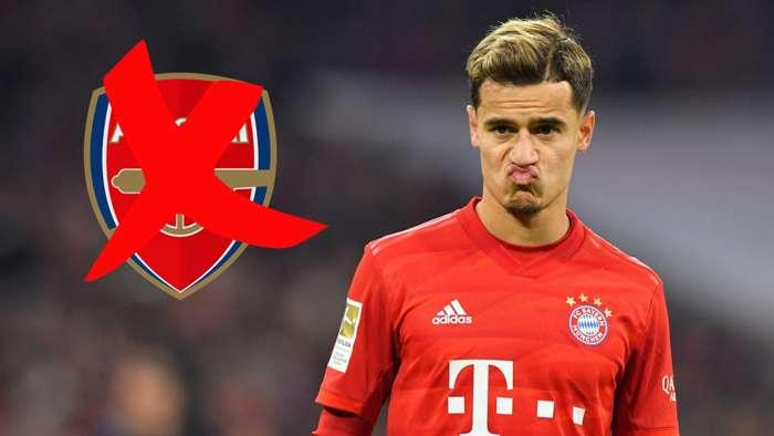 Philippe Coutinho Bayern Arsenal