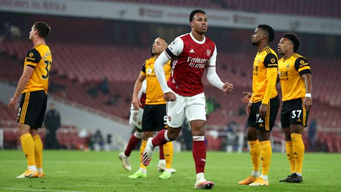 Gabriel Magalhaes Arsenal vs Wolves Premier League 2020-21