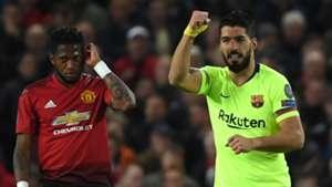 Fred, Luis Suarez, Man Utd vs Barcelona, UCL 2018-19