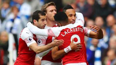 Pierre-Emerick Aubameyang Arsenal vs Brighton Premier League 2018-19