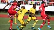 Simba SC striker John Bocco vs Zimamoto FC.