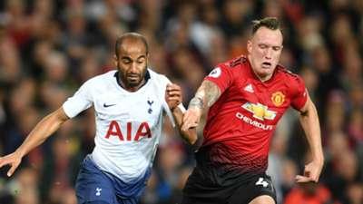 Lucas Moura Phil Jones Tottenham Manchester United 2018-19