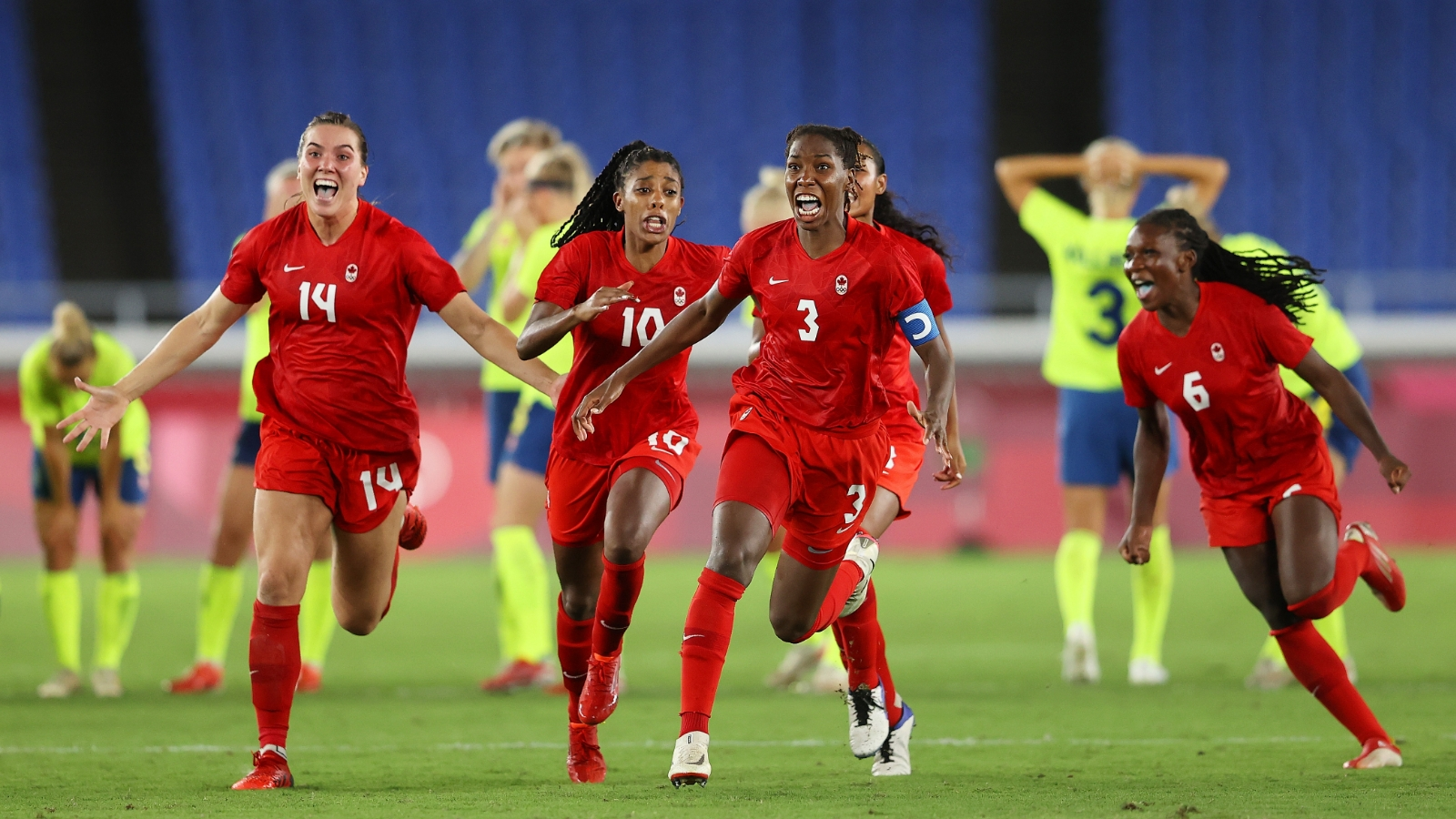 Canada defeat Sweden to win country's first ever Olympic gold medal in women's football