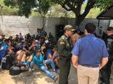 Hinchas de Millonarios detenidos en Santa Marta