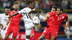 John Boye of Ghana, Ellyes Joris Skhiri of Tunisia, 2019 Afcon