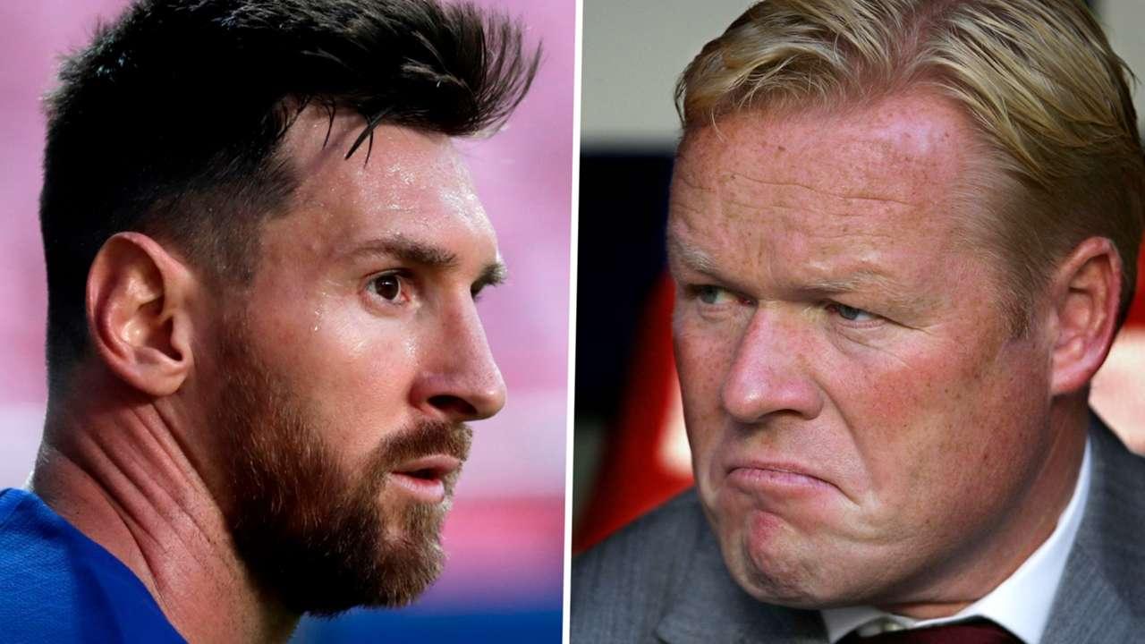 Lionel Messi Ronald Koeman Barcelona GFX