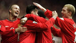 David Beckham Ryan Giggs Paul Scholes Manchester United