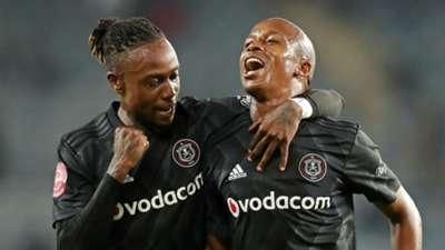 Mthokozisi Dube & Luvuyo Memela, Orlando Pirates, April 2019