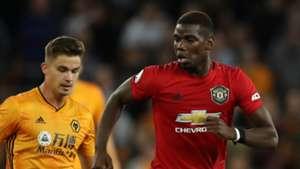 Paul Pogba, Wolves vs Man Utd, 2019-20