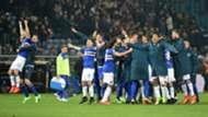 Sampdoria celebrating Genoa Sampdoria Serie A
