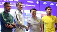 Andritany Ardhiyasa, Simon McMenemy - Timnas Indonesia & Tan Cheng Hoe, Fahrizal Marlias - Malaysia