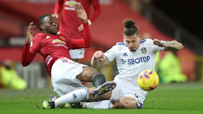 Aaron Wan-Bissaka Kalvin Phillips Manchester United Leeds 2020-21