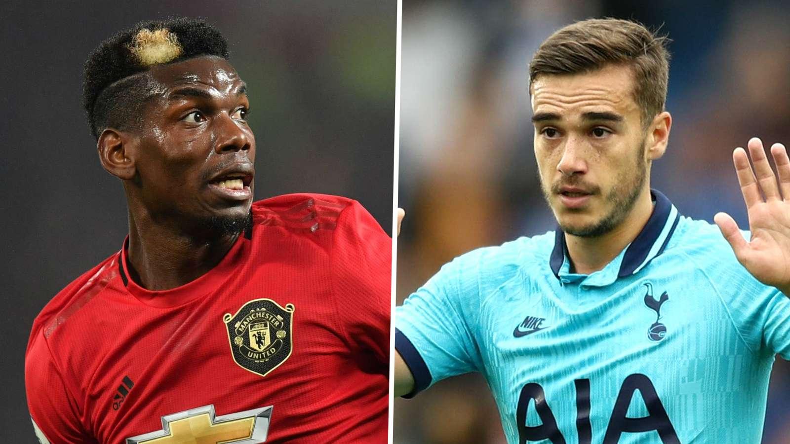 Paul Pogba Harry Winks Manchester United Tottenham 2019-20
