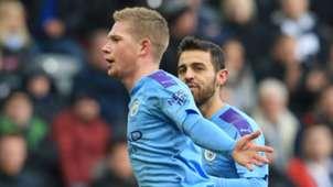 Kevin De Bruyne celebrates vs Newcastle