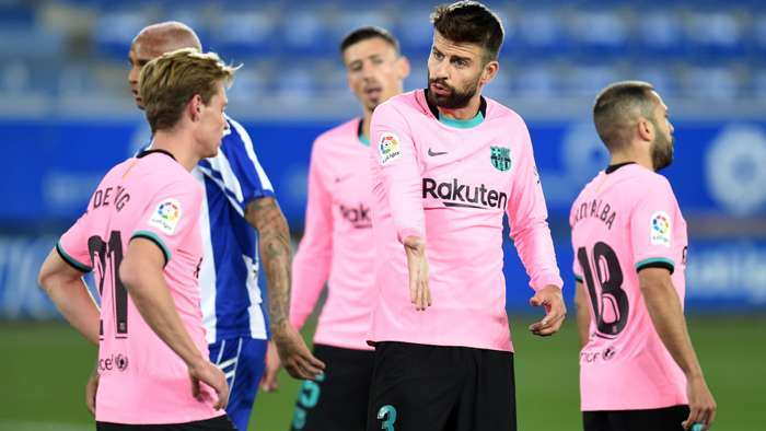 Gerard Pique Barcelona Alaves 2020-21
