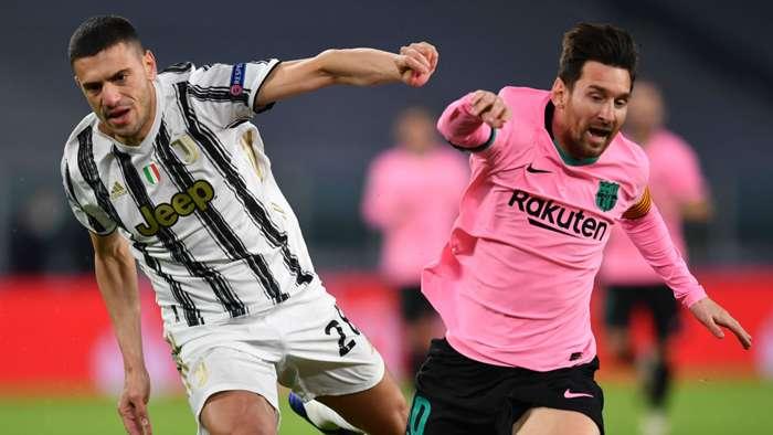 Merih Demiral Lionel Messi Juventus Barcelona 2020-21