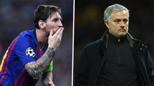 Lionel Messi and Jose Mourinho, Champions League draw