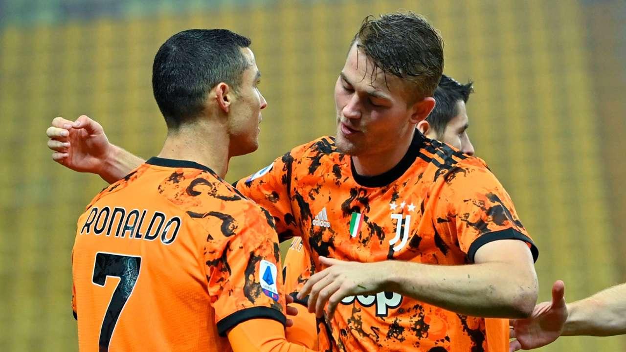 Cristiano Ronaldo Matthijs de Ligt Juventus 2020-21