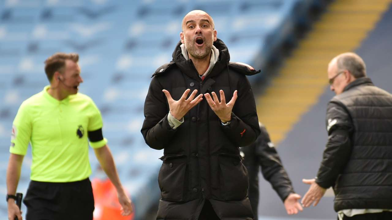 Pep Guardiola Manchester City Leeds 2020-21