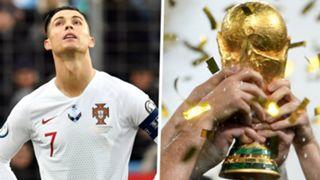 Cristiano Ronaldo World Cup trophy