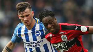 Terence Kongolo Pascal Gross Huddersfield Town Brighton and Hove Albion