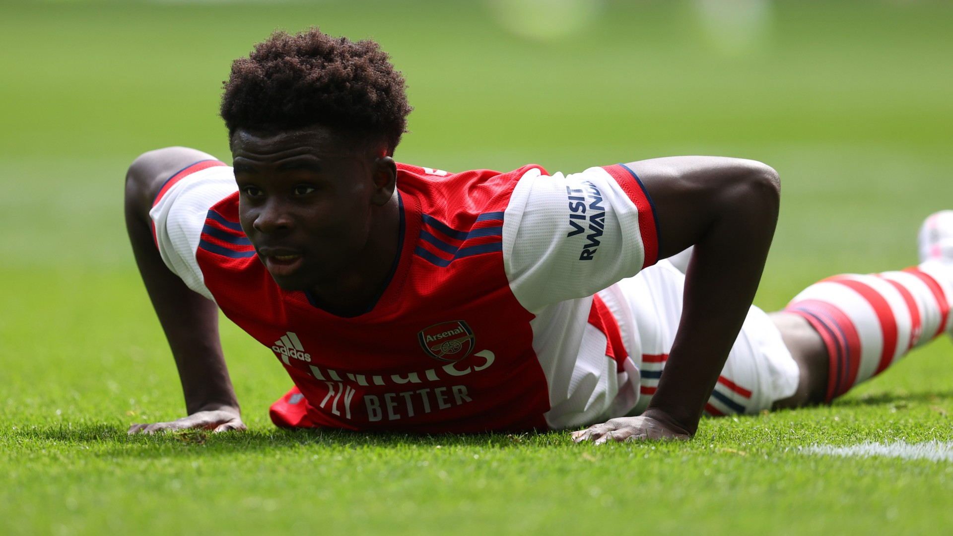Saka says 'thank you' after ovation from Tottenham fans during Arsenal's pre-season friendly