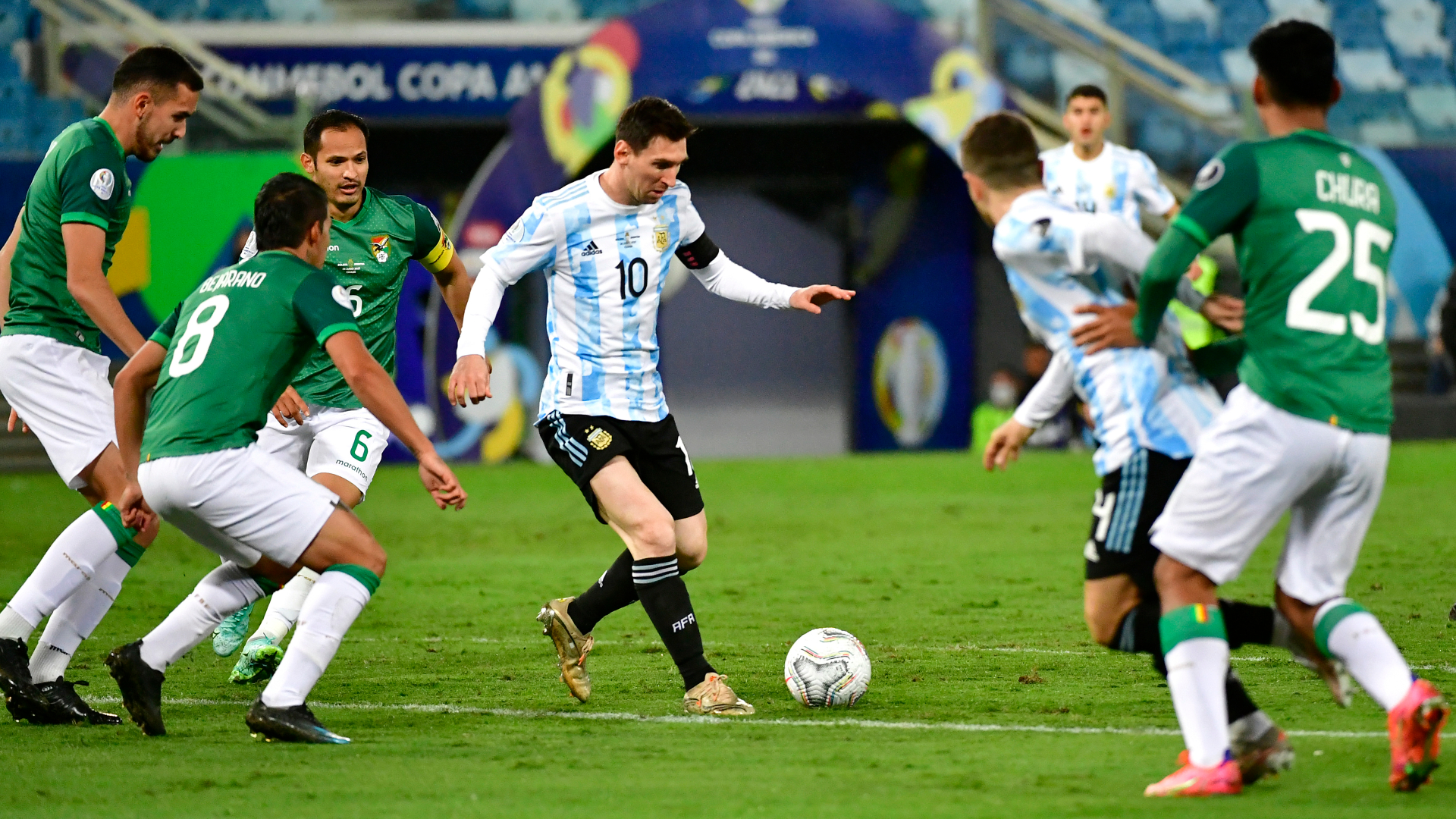 Messi shines after breaking Argentina appearance record in Copa America