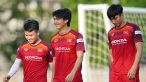 Nguyen Tuan Anh - Bui Tien Dung - Nguyen Quang Hai Vietnamese National Football Team | Training Session | 12 October 2019