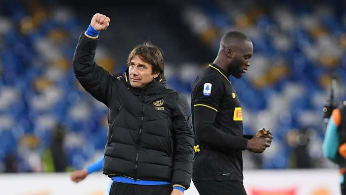 Antonio Conte Romelu Lukaku Inter 2019-20