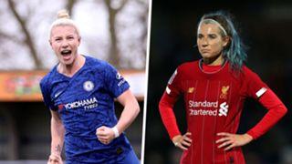 Bethany England Kirsty Linnett Chelsea women Liverpool women