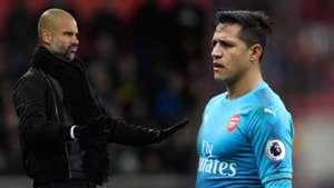 Guardiola and Alexis