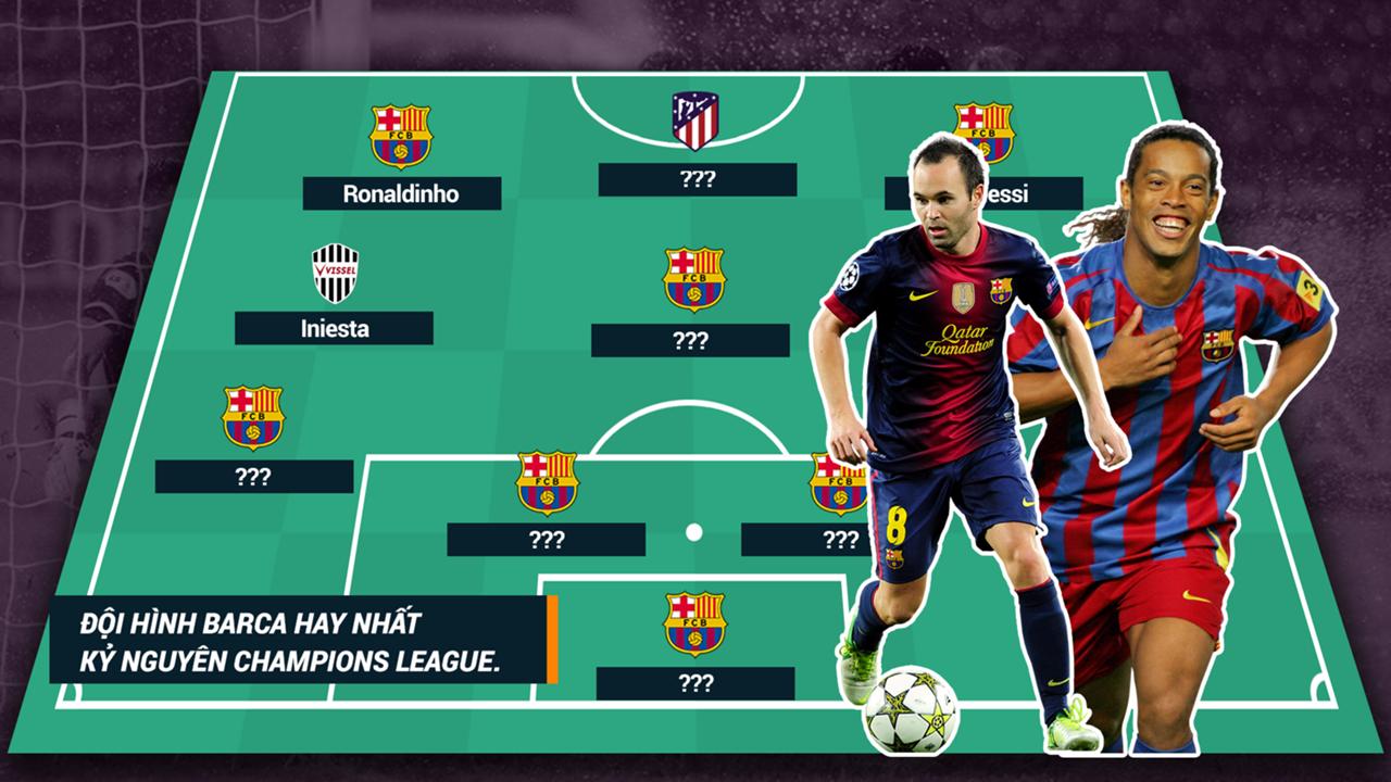 Best of Barca XI in Champions League era