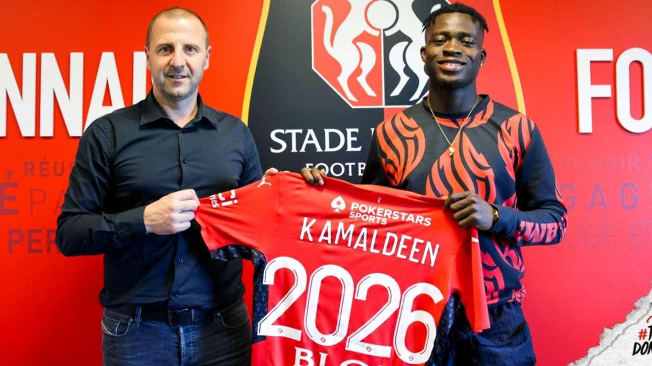 Ghanaian midfielder Kamaldeen Sulemana signs for Rennes.