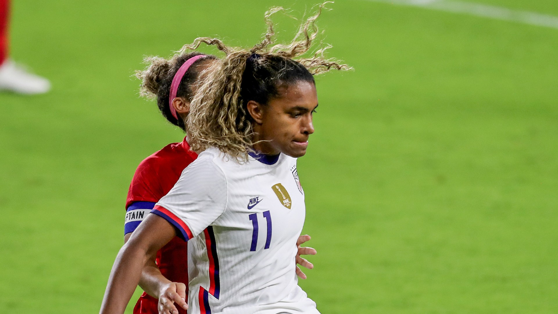 USWNT striker Macario was ruled out of the Swedish and French matches due to Covid restrictions