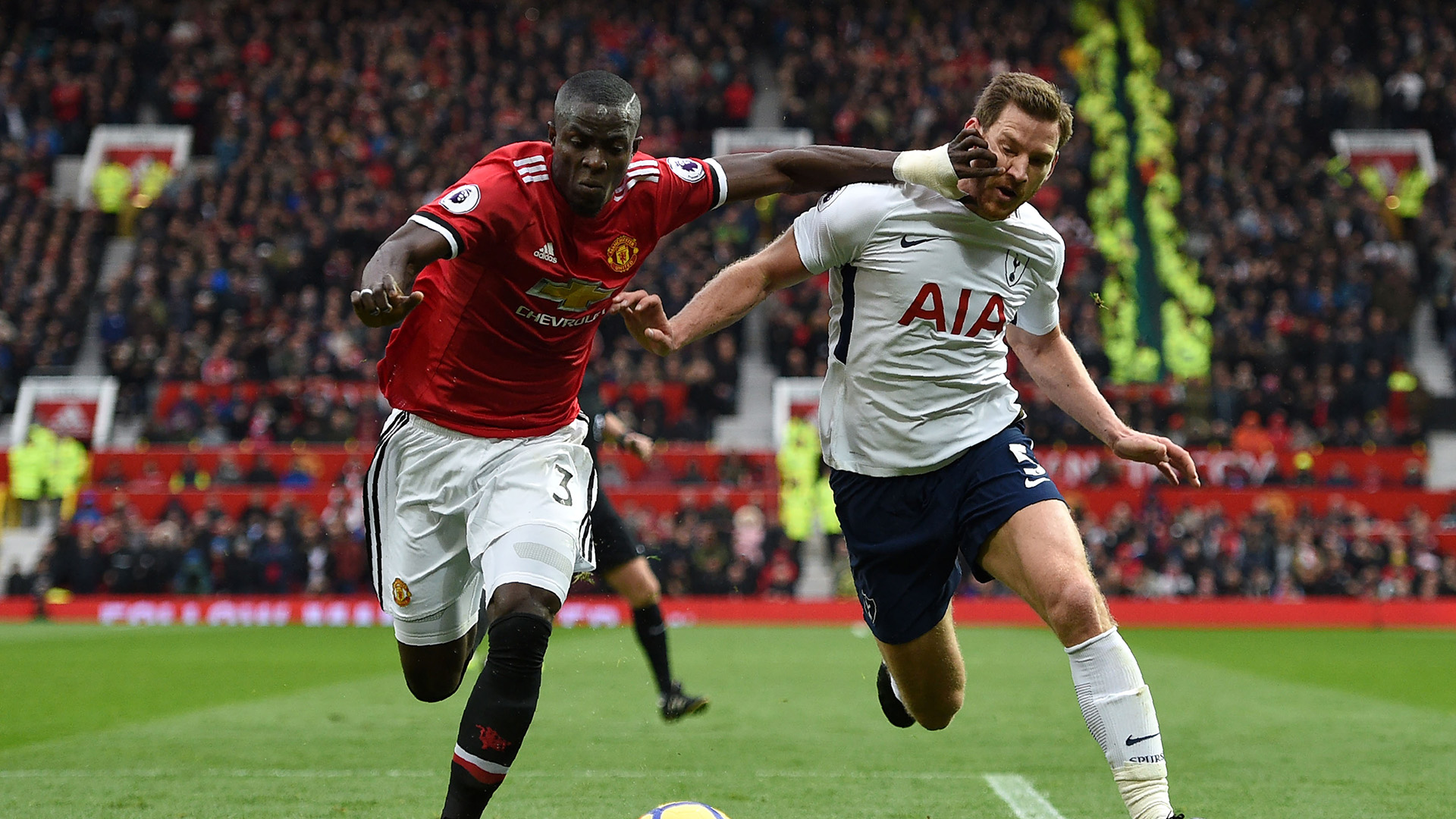 Eric Bailly Jan Vertonghen Manchester United Tottenham Premier League
