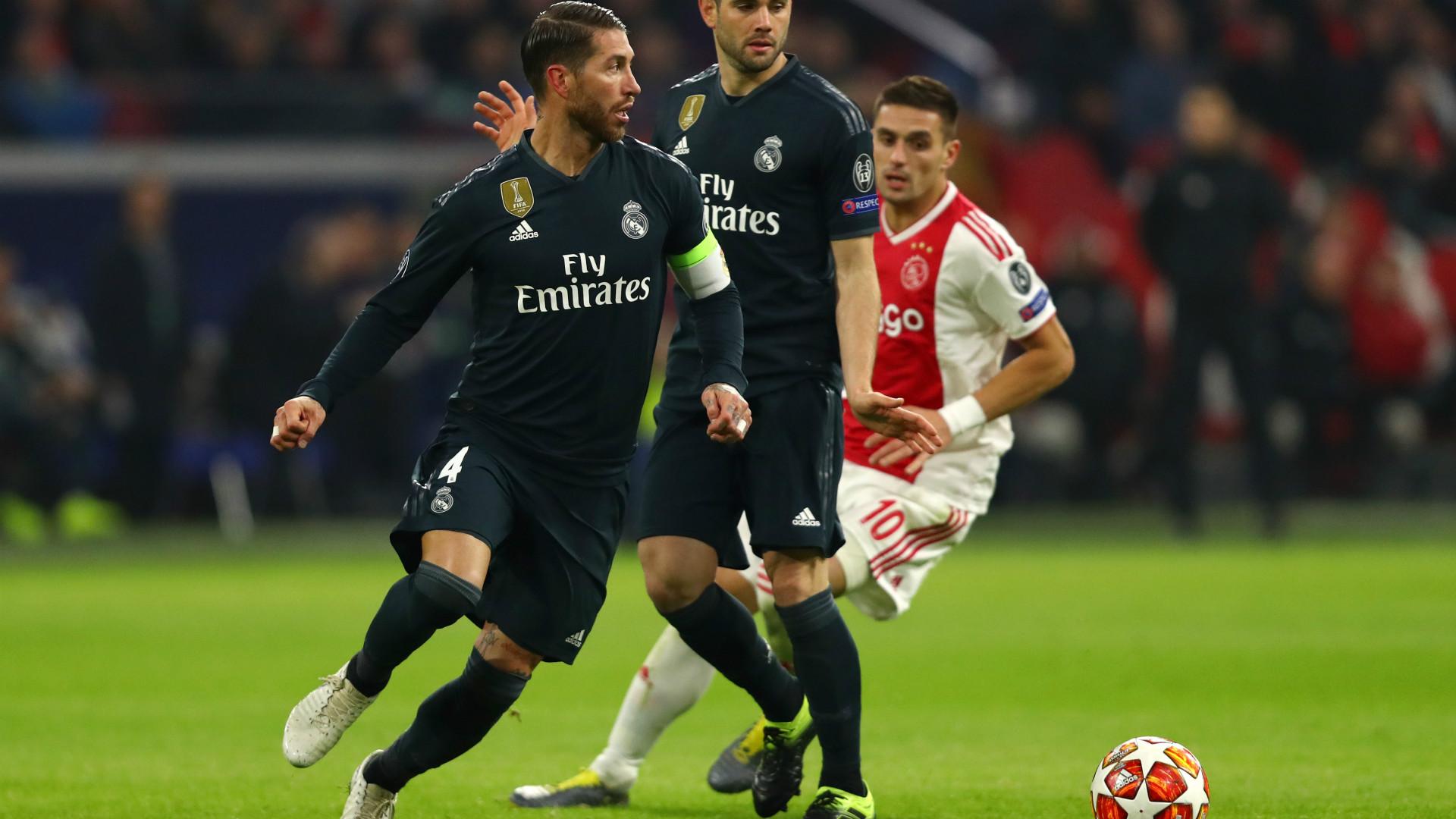 RAMOS AJAX REAL MADRID CHAMPIONS LEAGUE