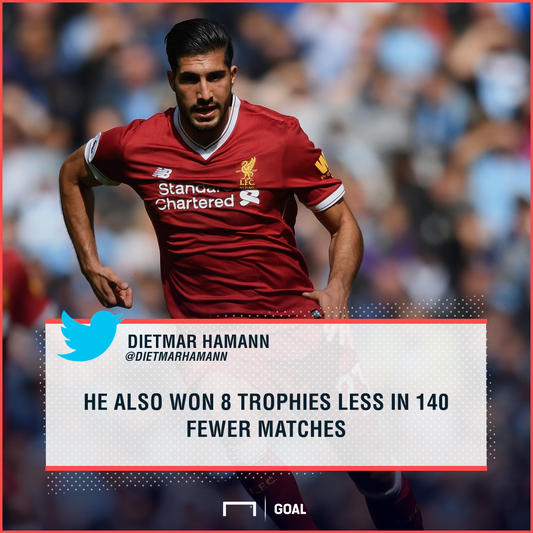 Dietmar Hamann Emre Can Liverpool trophies