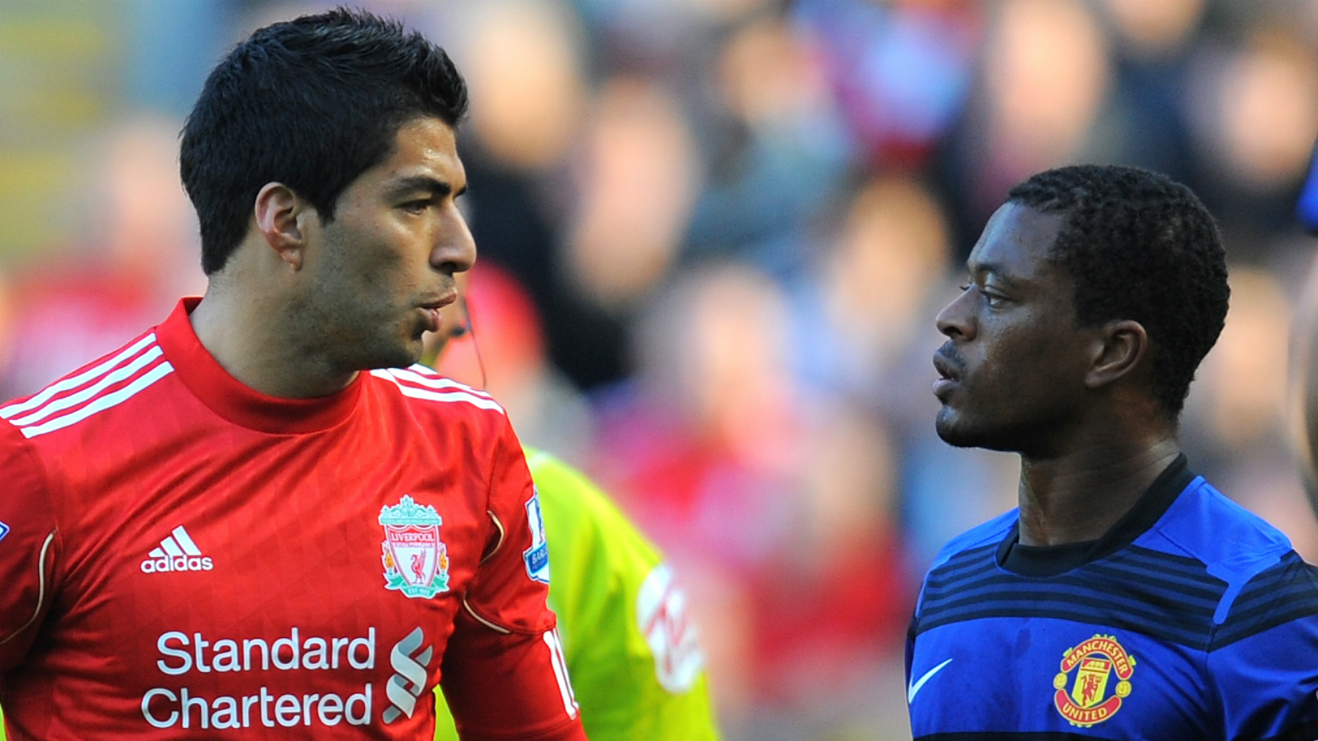What did Luis Suarez say to Patrice Evra during infamous Manchester United v Liverpool match?
